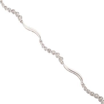 Forever Diamonds Diamond Journey Bracelet In 14kt White Gold