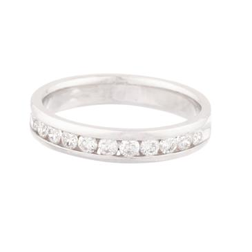 Forever Diamonds Diamond Wedding Band In 14kt White Gold