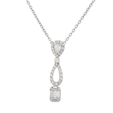 Fancy diamond pendant in 18kt white gold forever diamonds fancy diamond pendant in 18kt white gold mozeypictures Image collections