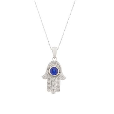 Sapphire and diamond hand of god pendant in 14kt white gold forever diamonds sapphire and diamond hand of god pendant in 14kt white gold aloadofball Choice Image