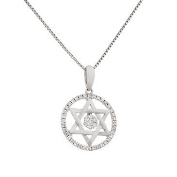 Star of david in circle of life pendant in 14kt white gold forever diamonds star of david in circle of life pendant in 14kt white gold aloadofball Images