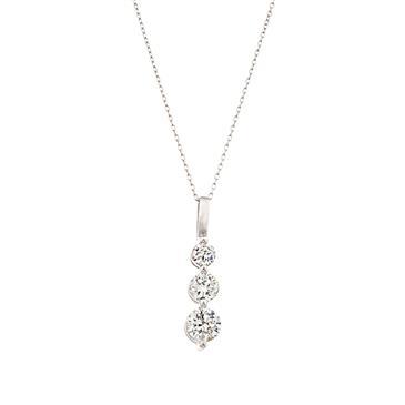Three stone diamond pendant in 14kt white gold g si1 forever diamonds three stone diamond pendant in 14kt white gold aloadofball Choice Image