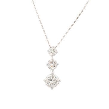 Three stone diamond pendant in 14kt white gold h si1 forever diamonds three stone diamond pendant in 14kt white gold aloadofball Choice Image