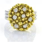 Forever Diamonds Diamond Gold Cluster Ring in 14kt Two-Tone Gold